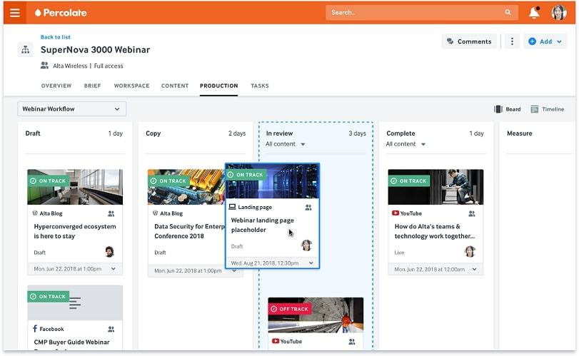 Percolate social monitoring tool