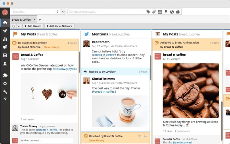 Hootsuite WorkFlow - social media planning and monitoring